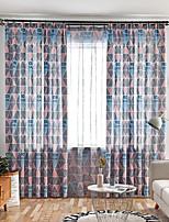 Недорогие -Геометрия Затемняющие 2 шторы Занавес Спальня   Curtains