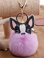 Недорогие -Брелок Собаки корейский Милая Мода Модные кольца Бижутерия Черный / Светло-Розовый / Белый Назначение Подарок Повседневные