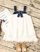 Недорогие -Дети Девочки Симпатичные Стиль Контрастных цветов Платье Белый