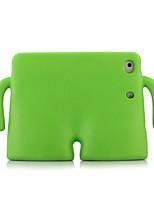 Недорогие -Кейс для Назначение Apple iPad Mini 3/2/1 / iPad Mini 4 / iPad Mini 5 Защита от удара / со стендом Кейс на заднюю панель Однотонный силикагель