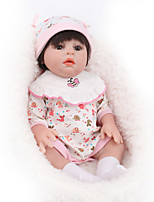 Недорогие -NPK DOLL Куклы реборн Куклы Мальчики Девочки 22 дюймовый Силикон - Безопасность Подарок Очаровательный Детские Универсальные / Девочки Игрушки Подарок