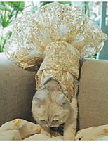 Недорогие -Собаки Коты Животные Платья Одежда для собак Вышивка Золотой Полиэстер Костюм Назначение Лето Мужской Свадьба