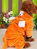 Недорогие -Собаки Коты Животные Костюмы Комбинезоны Одежда для собак Животное Желтый Полиэстер Костюм Назначение Зима Хэллоуин