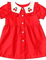 Недорогие -Дети Девочки Симпатичные Стиль Фрукты Платье Красный
