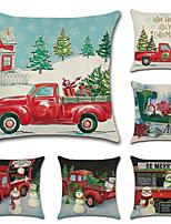 Недорогие -рождественская серия тема наволочка наволочка автомобиль рождественская елка ретро