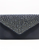 Недорогие -Жен. Полиэстер Вечерняя сумочка Сплошной цвет Черный / Белый / Лиловый