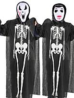 Недорогие -Скелет / Череп Косплэй Kостюмы Инвентарь Маскарад Взрослые Для пары Косплей Хэллоуин Хэллоуин Фестиваль / праздник Полиэстер Черный / Белый Для пары Карнавальные костюмы / Костюм