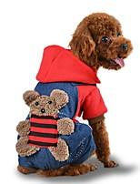 Недорогие -Собаки Плащи Одежда для собак Животное Коричневый Желтый Красный Полиэстер Костюм Назначение Зима Хэллоуин