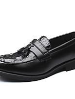 Недорогие -Муж. Комфортная обувь Полиуретан Осень На каждый день Туфли на шнуровке Ботинки Черный