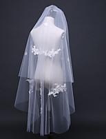 Недорогие -Два слоя Европейский стиль Свадебные вуали Фата до кончиков пальцев с Отделка 47,24 В (120) Тюль