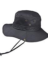 Недорогие -Универсальные Классический Шляпа от солнца Хлопок Лён,Однотонный Все сезоны Черный Лиловый Военно-зеленный