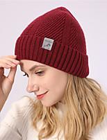 Недорогие -Жен. Классический Широкополая шляпа Акрил,Однотонный Зима Черный Красный Темно синий