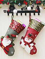Недорогие -рождественские подарки рождественские носки санта носки конфеты подарочные пакеты елочные украшения кулон рождественские носки