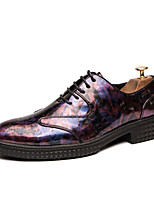 cheap -Men's Formal Shoes PU Spring & Summer / Fall & Winter Casual / British Oxfords Black / Red / Blue