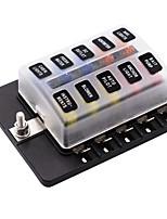 Недорогие -10 способ 12-32 В автомобиль авто лодка автобус utv лезвие блок предохранителей крышка со светодиодными индикаторами