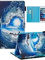 Недорогие -Кейс для Назначение Apple iPad Air / iPad (2018) / iPad Air 2 Кошелек / Бумажник для карт / С узором Чехол Пейзаж Кожа PU / ТПУ
