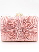 Недорогие -Жен. Жемчужная отделка Полиэстер Вечерняя сумочка Сплошной цвет Розовый