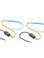Недорогие -2 шт. Гибкие светодиодные полосы света drl дневные ходовые огни мягкая трубка указатель поворота лампы 2 шт. Для фар автомобиля