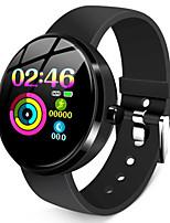 Недорогие -Жен. Смарт Часы Цифровой Стильные силиконовый Черный 30 m Пульсомер Bluetooth Smart Цифровой Мода - Черный Один год Срок службы батареи / Нержавеющая сталь