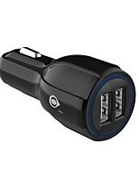 Недорогие -Автомобильное зарядное устройство USB зарядное устройство универсальное / USB нормальное 2 порта USB 2,4 DC 12 В-24 В для универсального со светодиодным индикатором