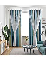 Недорогие -две панели корейский стиль свежий стиль выдолбленные звезды плотные шторы гостиная спальня детская комната шторы