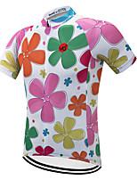 Недорогие -Vendull Цветочные ботанический Муж. С короткими рукавами Велокофты - Розовый + зеленый Велоспорт Джерси Верхняя часть Дышащий Быстровысыхающий Анатомический дизайн Виды спорта Зима 100% полиэстер