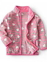 Недорогие -Дети Девочки Классический Горошек Куртка / пальто Светло-синий