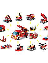 Недорогие -Конструкторы 12 pcs Строительная техника совместимый Legoing Взаимодействие родителей и детей Пожарная машина Все Игрушки Подарок