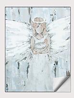 Недорогие -С картинкой Роликовые холсты - Абстракция Люди Modern Репродукции