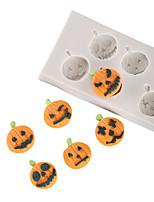 Недорогие -1 шт. Хэллоуин тыквы шоколад плесень превратить сахарный торт силиконовые формы семьи выпечки инструменты