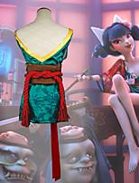 Недорогие -Вдохновлен Косплей Fox Girl Аниме Косплэй костюмы Японский Кимоно Юбки Назначение Жен.