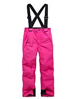 Недорогие -Мальчики Девочки Лыжные брюки С защитой от ветра Теплый Лыжи Зимние виды спорта Полиэфир Терилен Снегурочка Одежда для катания на лыжах