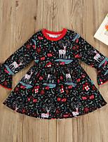 Недорогие -Дети (1-4 лет) Девочки Животное Платье Черный