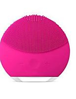 Недорогие -электрический силиконовый инструмент для очищения лица щетка для мытья лица ультразвуковой вибрационный массаж лица очиститель пор красоты инструмент