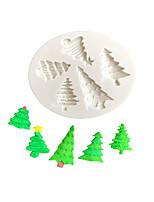 Недорогие -Классическая рождественская елка украшения формы торт силиконовые формы сахарная паста конфеты шоколад гмпаст глина плесень