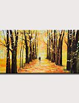 Недорогие -Hang-роспись маслом Ручная роспись - Абстракция Пейзаж Modern Без внутренней части рамки