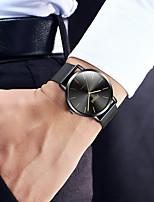 Недорогие -Муж. Нержавеющая сталь Кварцевый Стильные геометрический Нержавеющая сталь Черный 30 m Защита от влаги Повседневные часы Крупный циферблат Аналоговый Роскошь На каждый день - Черный / Два года