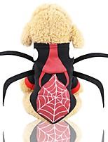 Недорогие -Собаки Плащи Одежда для собак С узором Черный Полиэстер Костюм Назначение Зима Праздник Хэллоуин