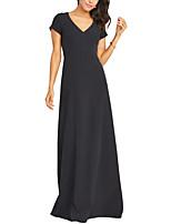 Недорогие -А-силуэт V-образный вырез В пол Джерси Торжественное мероприятие Платье с от LAN TING Express
