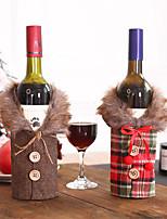 Недорогие -Новогодние украшения набор бутылок красного вина кухня Санта-саксы Буффало фотографии украшения дома