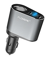 Недорогие -мобильный телефон и планшет автомобильное зарядное устройство 3.1a Dual USB зарядка головы интеллектуальный цифровой дисплей автомобильное зарядное устройство