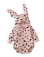 Недорогие -малыш Девочки Уличный стиль Геометрический принт Длинный рукав 1 предмет Розовый