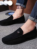 cheap -Men's Summer / Fall Casual / Vintage Daily Office & Career Loafers & Slip-Ons Walking Shoes Suede Breathable Wear Proof Black / Red