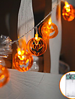 Недорогие -1.2m10led фонарь тыквы свет строки хэллоуин призрак фестиваль украшения комнаты звезда свет