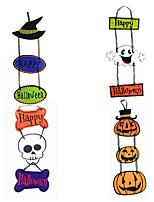 Недорогие -хэллоуин висит стикер бумажные двери висячие украшения тыквы хэллоуин украшения партии участник фестиваля аксессуары
