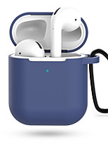 Недорогие -Защитный чехол Простой стиль Прочный Apple Airpods Защита от удара Скретч-доказательство кремнийорганическая резина