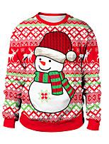 Недорогие -Животный принт Рождественский свитер Взрослые Для пары Рождество Хэллоуин Фестиваль / праздник Спандекс Полиэстер Цвет зеленой мяты / Красный / Бледно-синий Для пары Карнавальные костюмы / Кофты