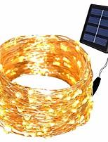 Недорогие -10 м 100 светодиодов солнечные огни строки сказочные огни 8 режимов водонепроницаемый ip65 солнечные огни строки открытый крытый сад патио рождественские декоративные