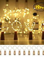 Недорогие -12 шт. 20 светодиодных бутылок вина огни медной проволоки фея свет шнура теплый белый бутылка пробка атмосфера лампы на Рождество праздник Xmas фестиваль поделки домашняя вечеринка украшения подарок в
