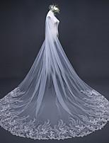 Недорогие -Один слой Европейский стиль Свадебные вуали Фата для венчания с Отделка 118,11 в (300см) Тюль